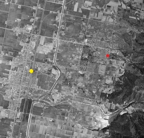 空中写真 1968年 奈井江町 住友炭鉱