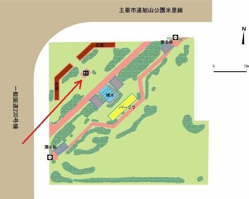 南9条緑地 平面図