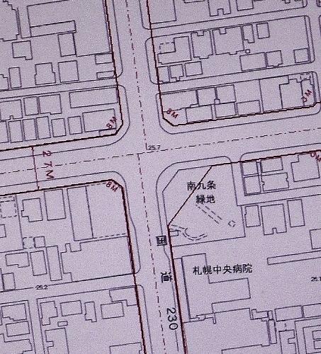 札幌市地図情報サービス 都市計画道路 南9条緑地