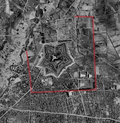 空中写真 1948年米軍 函館 五稜郭周辺