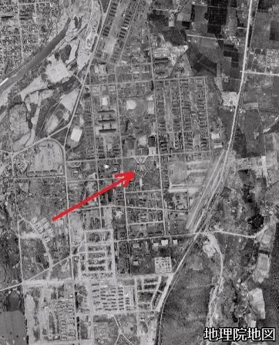 空中写真 1961年 自衛隊真駒内 旧キャンプクロフォード師団司令部
