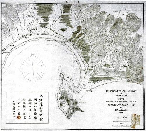 北海道三角測量 明治8年 箱館