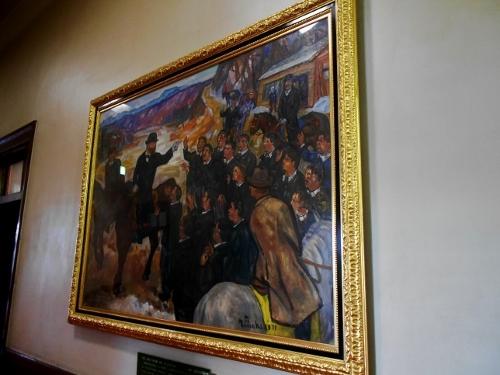 道庁赤れんが 舎内の絵画「島松での別離」