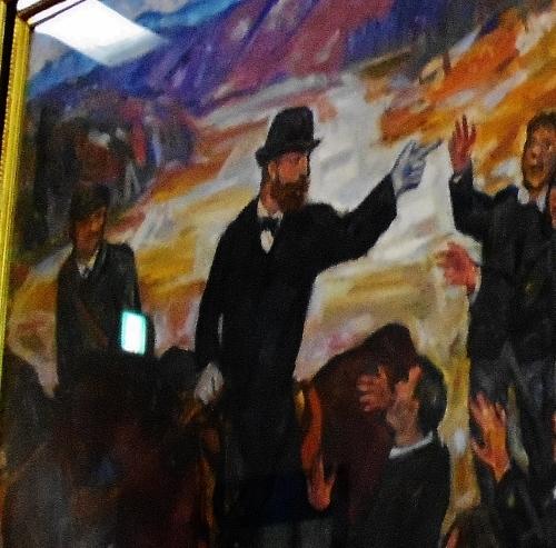 道庁赤れんが 舎内の絵画「島松での別離」 クラーク先生