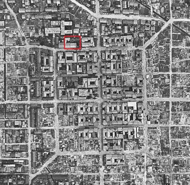 空中写真1946年米軍 中村遊郭