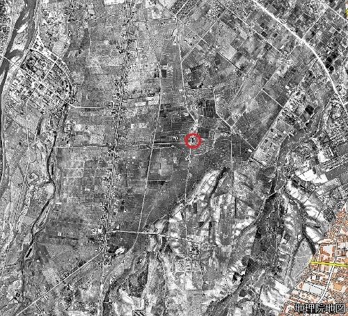 空中写真 1948年米軍 東裏