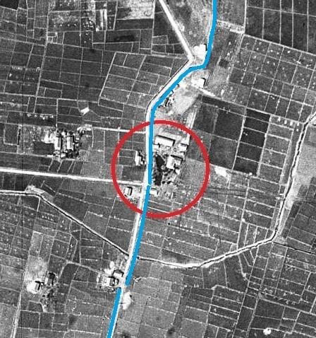 空中写真 1948年米軍 東裏 小泉川