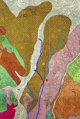札幌市地質図 扇状地平岸面 小泉川