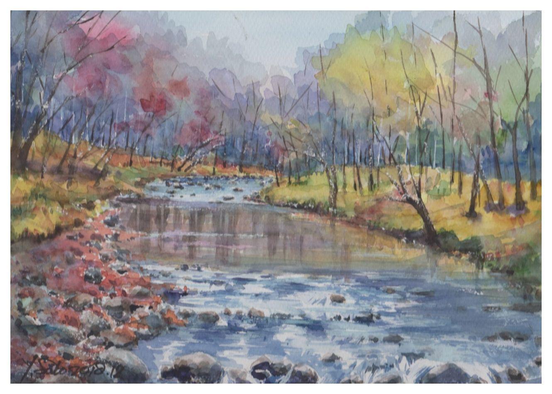 2018年12月故郷の川へ