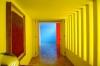 ヒラルディ邸のプールと廊下-1