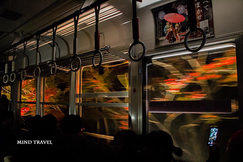 叡山電鉄 紅葉のトンネル