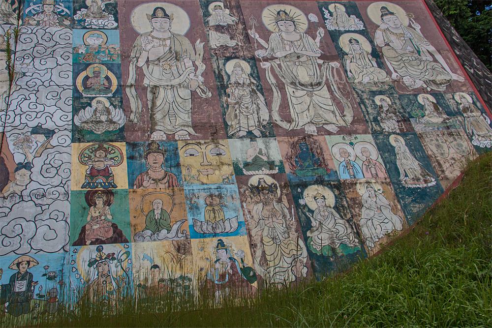 禅定寺 壁画1