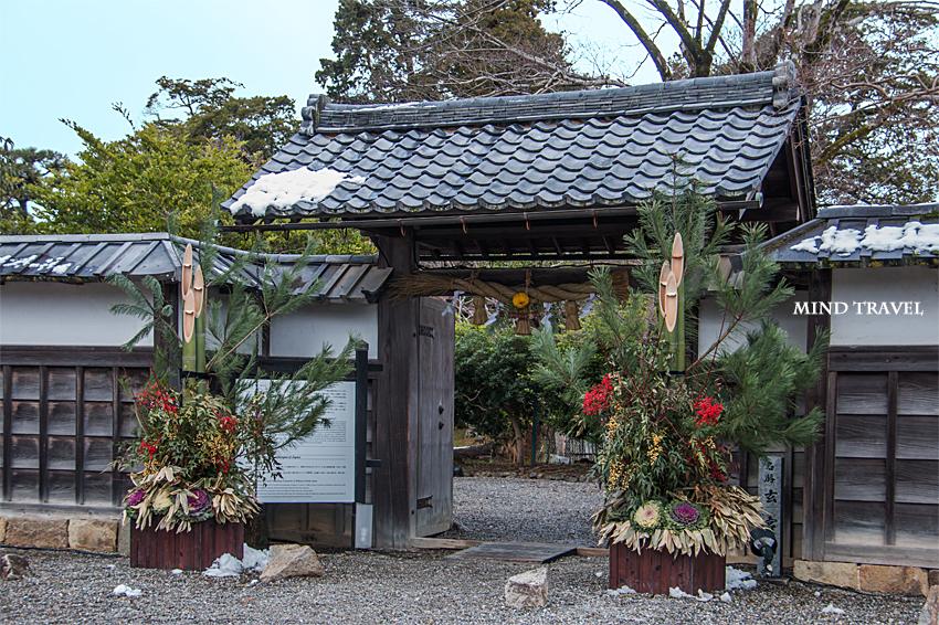 玄宮園-門と門松
