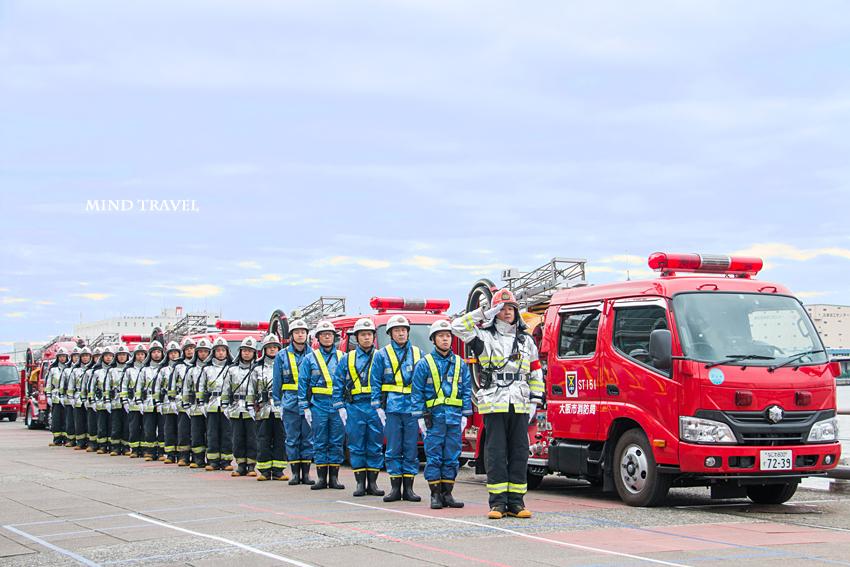 大阪市消防出初式 消防士たち