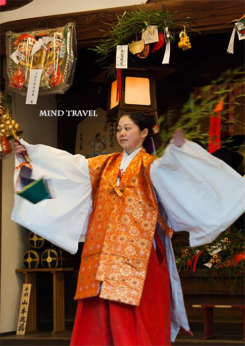 大阪天満宮 えびす祭 巫女の舞