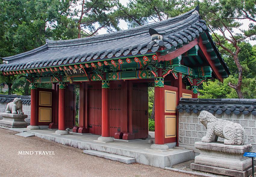 鶴見緑地 韓国庭園 門