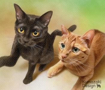 ペット肖像画 ペットの絵 ペット画 ペットロス 似顔絵 遺影 イラスト 猫 ねこ ネコ 小猫 子猫 色えんぴつ画 色鉛筆画