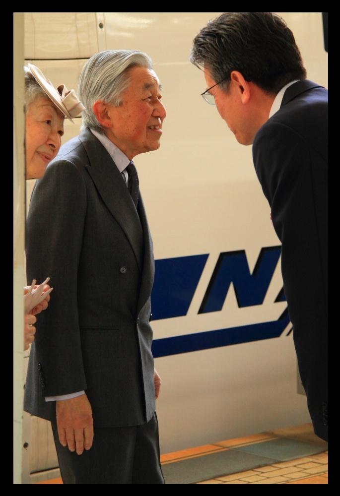 天皇陛下 新幹線お召