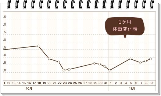 11月9日体重表1ヶ月