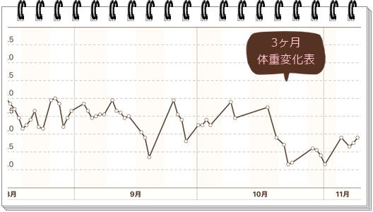 11月9日体重表3ヶ月
