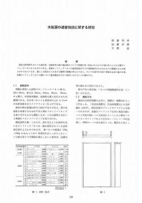 木製扉の遮音に関する研究(大林組)