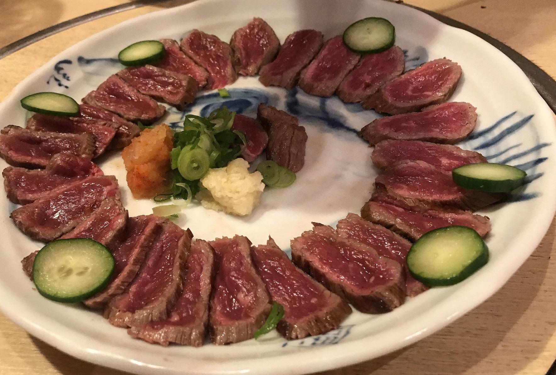 牛肉のたたき。
