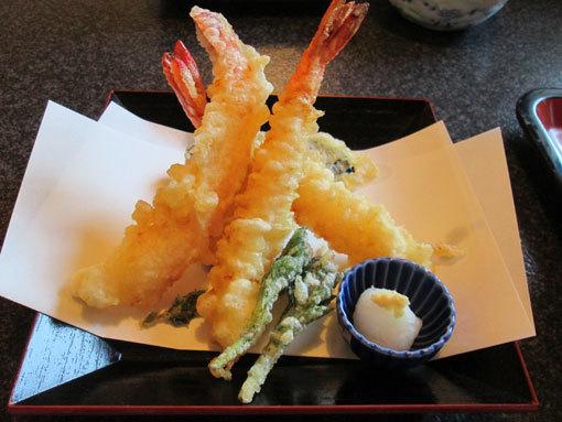 えび天ぷら(野菜付き)