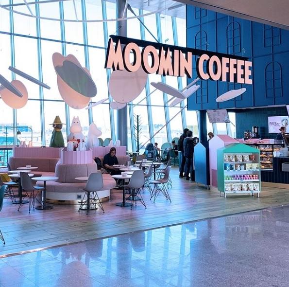 フィンランド ヘルシンキ‐ヴァンター空港 ムーミンカフェ Moomin Coffee