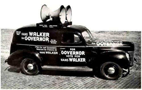 01a 500 US election campaine car