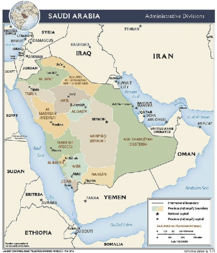 02a 600 map of Saudi Arabia