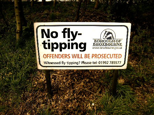 09a 500 No fly-tipping