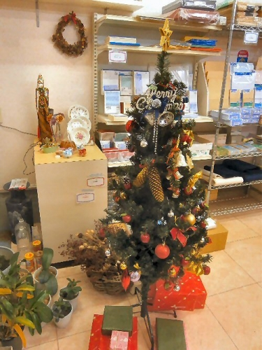 01g 500 Xmas tree in 志保屋書店