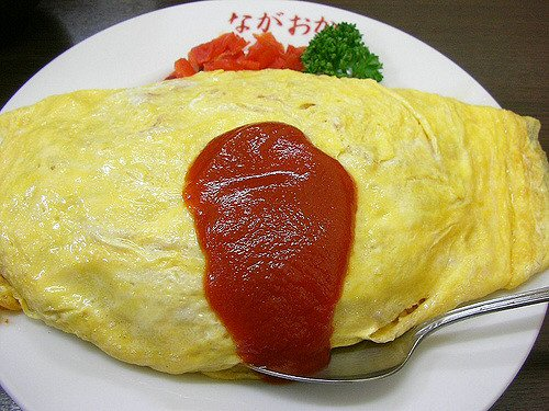 09d 500 Omlet with rice