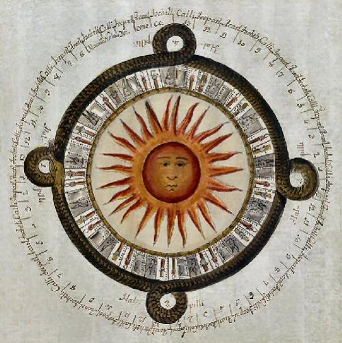09a 500 old mexican calendar