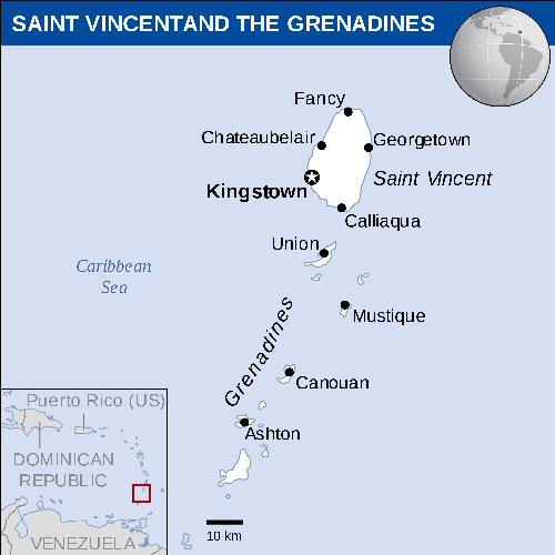 01e 500 Grenadines map