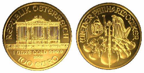 09b 500 Gold Coin ウイーンフィル