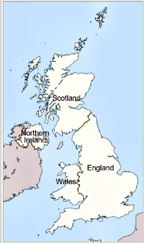 00b map of UK 4 countries