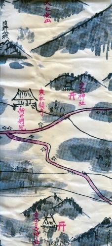 01a 600 新井戦国時代古地図 林屋菓子包装紙