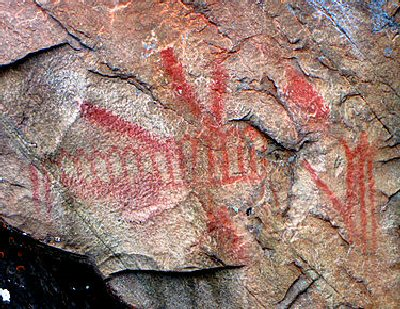 04d 400 pictograph on Mazinaw Rock