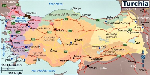 03bb 600 map of Turkey