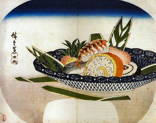 04ba 500 sushi by Hiroshige