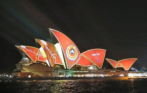 03a 500 Sydney Projection display