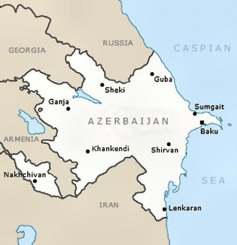 02c 600 Map of Azerbaijian