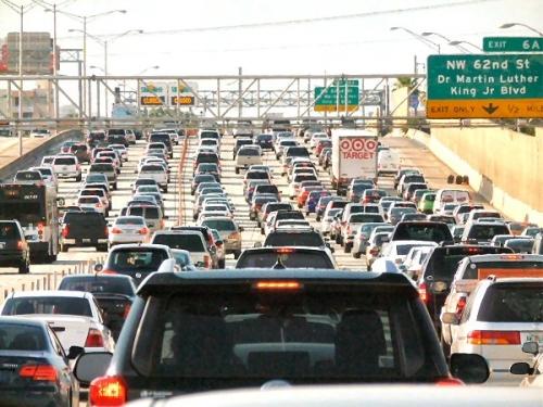 03a 600 Miami trafic jam