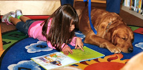 09a 500 therapy dog with a girl