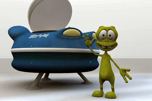 04a 500 UFO and UFO boy
