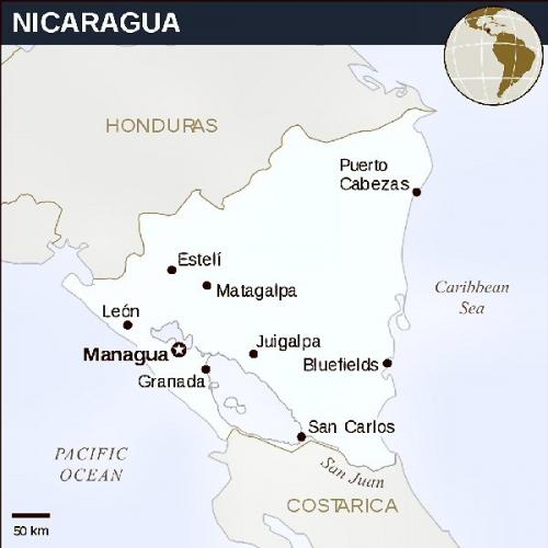 04cb 600 location of Nicaragua