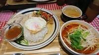 ガパオとトムヤム麺