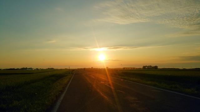 東雲台地の夕陽2018081300004