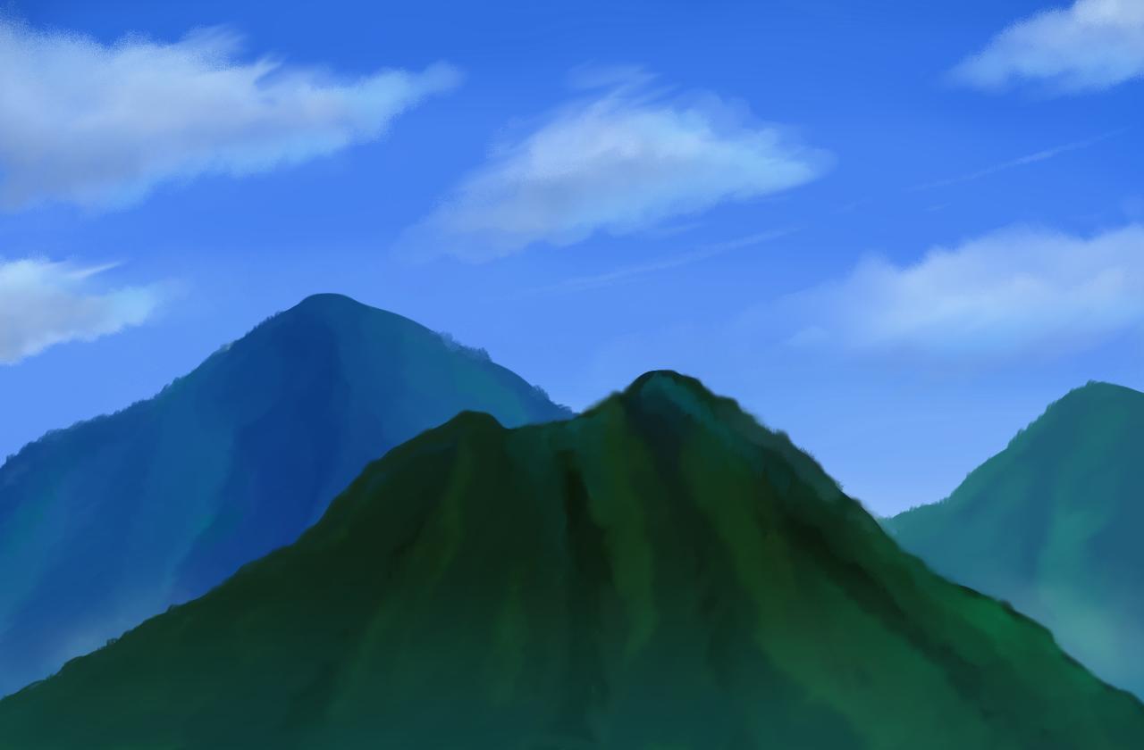 2019-7-6習作 空と山